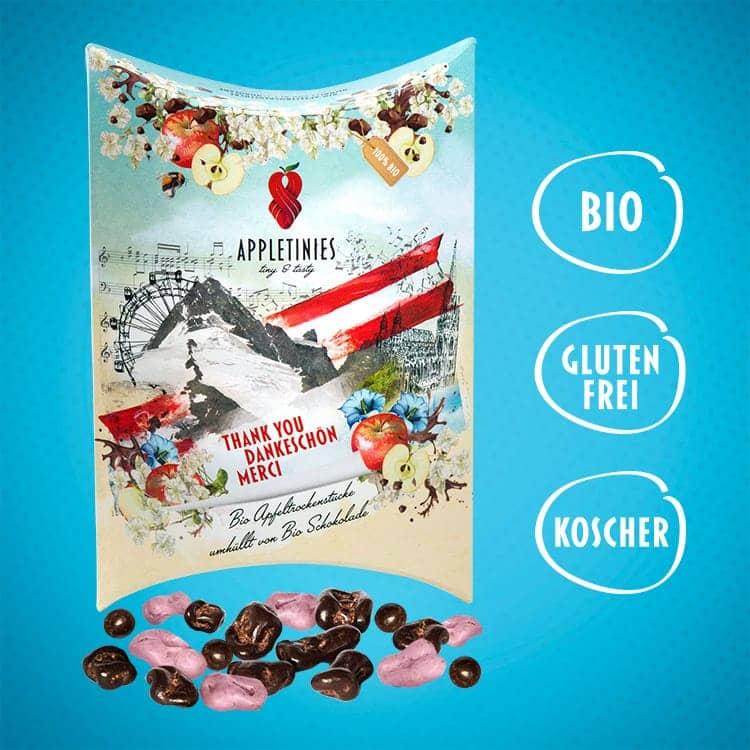 Zartbitterschokolade und weiße Schokolade mit Holunder: bio, glutenfrei, kosher