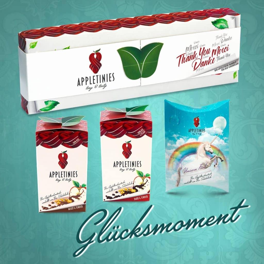 Set Glücksmoment: Schokolade – schönes Geschenk mit Einhorn
